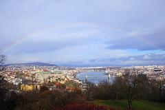 Rainbow over Budapest, Hungary (Andrey Sulitskiy) Tags: hungary budapest