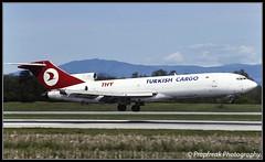 TC-JCB / BSL 05.1996 (propfreak) Tags: boeing bsl basle slidescan mulhouse b727200 turkishairlines lfsb b727200f propfreak tcjcb 9mtga rayaairways 7272f2f