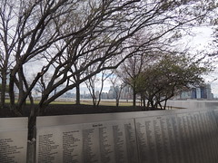 The American Immigrant Wall of Honor - Ellis Island - New York City - April 2016 (jeanyvesriou1) Tags: newyork island immigration ellisisland theamericanimmigrantwallofhonor spring2016