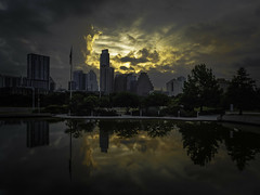 Here Comes Summer (keith_shuley) Tags: colors clouds sunrise austin colorful downtown texas olympusomdem1