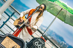 Rock 'n' Roll Jesus (darren.cowley) Tags: santa pier route66 guitar performance monica rocknrolljesus