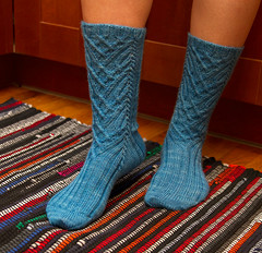 Manoa sock pattern (bogiebogie) Tags: socks knitting pattern knit cables knitty manoa