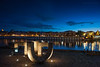 Paseando por el río III (Javier Martinez de la Ossa) Tags: sunset españa rio puente sevilla andalucía spain agua seville bluehour espagne ocaso chillida anochecer triana puentedetriana rioguadalquivir horaazul nikond700 nikkor2470 javiermartinezdelaossa