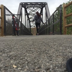 Day 127 (boxbabe86) Tags: bridge bike cycle tuesday april timer day127 iphone 2015 365days 10secondtimer hubbybirthday ironhorsetrailhead