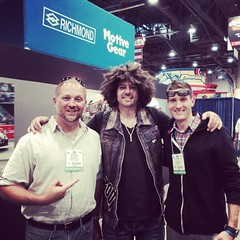 Larry and Mike Musto at SEMA with Tapout Owner