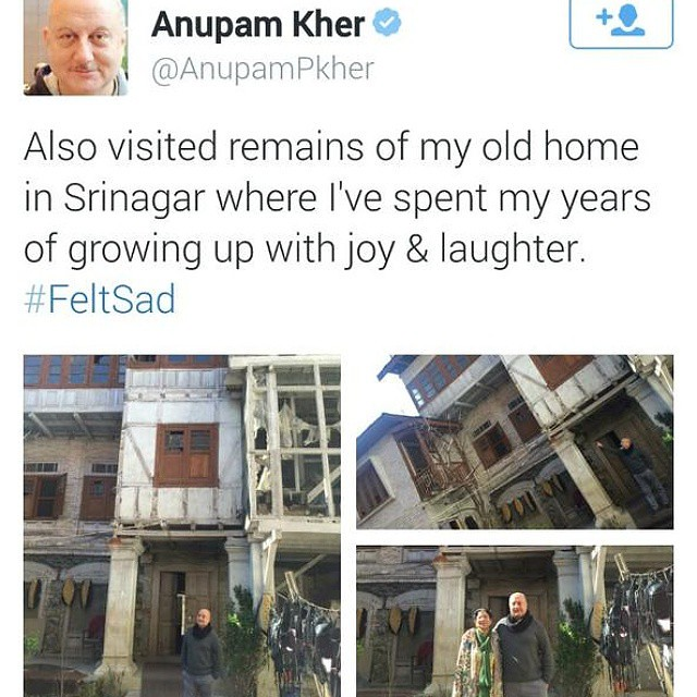 #AnupamKher on#Ndtv you once claimed your #house was burnt by #Millitants your own lies #Exposed now.