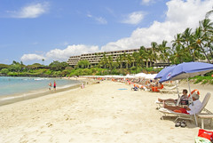 Mauna Kea Beach ( island girl ) Tags: ocean blue sea beach hawaii sand surf pacific salt tropical bigisland maunakea kohala
