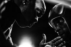 Coaching (johann walter bantz) Tags: sportsphotographer sportphotography coaching coach fight combat 85mm blackwhite boxeanglaise 93 aubervilliers nikond4s sport boxe