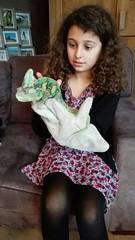 Kameleon vasthouden tijdens je kinderfeestje