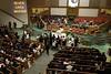 Familiares y amigos de FREDDIE GRAY en los oficios religiosos de cuerpo presente en la iglesia bautista New Shiloh en Baltimore. (Patrick Semansky / Associated Press)