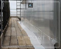 EDF Energy Pipe Bridge residue containment- Tufcoat Shrink Wrap