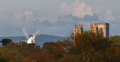 Holgate Windmill and York Minster from Acomb
