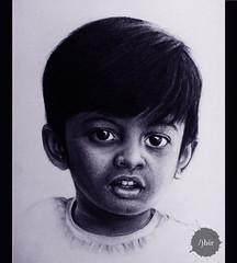 Subject: Krishiv (Abir Khalil.Art) Tags: boy portrait blackandwhite art face sketch artwork artgallery drawing gift charcoal shading
