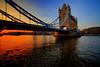 London (mudpig) Tags: sunset reflection london towerbridge river twilight unitedkingdom dramatic nopeople license riverthames hdr gettyimages mudpig stevenkelley