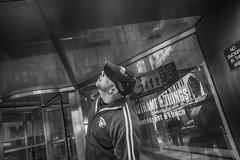 Philadelphia, 2015 (Alan Barr) Tags: street people blackandwhite bw philadelphia monochrome mono blackwhite candid streetphotography sp streetphoto gr ricoh 2015 marketstreeteast