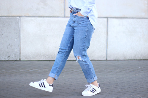Adidas Superstar Shoes With Jeans
