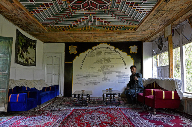 The Royal hall : Reminiscence of a glorious past of Turtuk, Nubra Valley, Ladakh, Jammu and Kashmir, India.