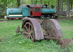 Fordson and 0-4-0T at Cool Springs (jterry618) Tags: tractor abandoned unitedstates caboose westvirginia derelict steamengine steamtrain narrowgauge rowlesburg steamlocomotive coolspringspark