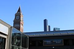 King Street Station clocktower (SounderBruce) Tags: clocktower signage wayfinding kingstreetstation seattlemunicipaltower columbiacenter