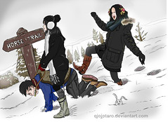 snow ride (Love Giantess) Tags: fetish boots sm bdsm master riding pony mistress equestrian femdom slave jodhpur trample sadism ponyboy humanpony yapoo humanhorse ridinggirl underher