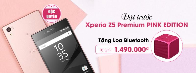 Đặt Sony Xperia Z5 Premium hồng tặng Loa bluetooth hồng cực hấp dẫn