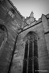 Dunfermline Abbey (Rollingstone1) Tags: blackandwhite bw building history monochrome architecture scotland fife kingdom dunfermlineabbey