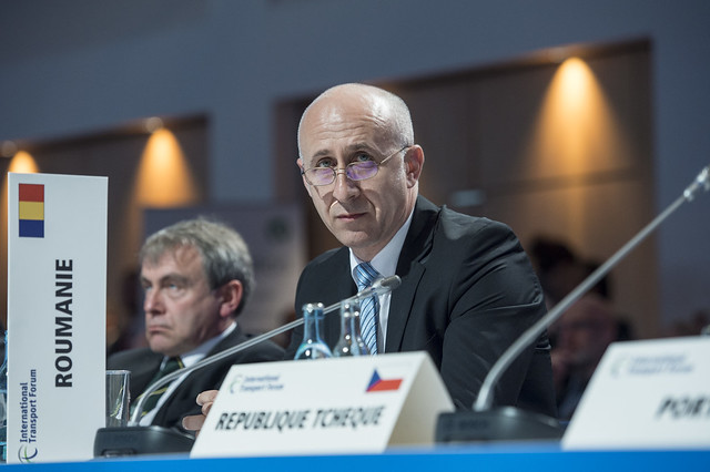 Dan Marian Costescu listens during the Open Ministerial Session