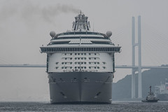 Arrival of a big cruise ship 3 (kmmanaka) Tags: japan nagasaki cruiseship fog rain harbor internationalterminal rose