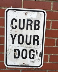 Curb your dog(ma) (Tom Simpson) Tags: nyc newyorkcity newyork sign dogma curbyourdog