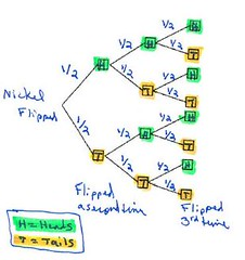 probability tree for nickel (patriciamercier) Tags: mercier probabilitytree nickelflippedthreetimes