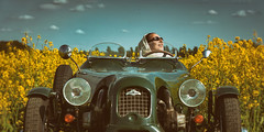 If you obey all the rules.... (fehlfarben_bine) Tags: portrait woman sunlight berlin car reflections spring happiness lomax rapeseed nikond800