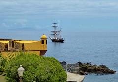 Anchored in the bay (oh.suzannah) Tags: yellow bay sailing ship fort
