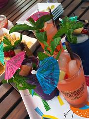 Tiki Time! (Darren Shannon) Tags: cameraphone drinking alcohol booze rum tiki tikiparty fruitjuice longbeachcalifornia tikidrinks darrenshannon iphone6s may142016