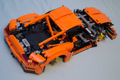 42056 Lego Technic Porsche 911 Gt3 Rs Box 3 Finished Rear