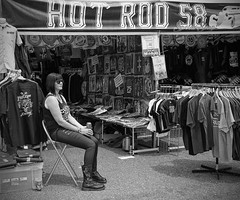 Hot Rod (V Photography and Art) Tags: woman candid tshirts seller
