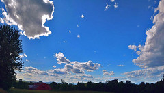 2016_0615Summer-Daze-Pano0001 (maineman152 (Lou)) Tags: sky panorama cloud nature weather june clouds skyscape landscape warm maine sunny bluesky skyview naturephotography niceweather skyscene warmweather summersky cumulusclouds naturephoto skycolor skycolors skydrama landscapephoto