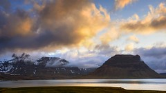 sunset mood over Kirkjufell (lunaryuna) Tags: sunset sky panorama lake mountains clouds season landscape iceland spring sundown dusk lunaryuna kirkjufell cloudscape nightfall snaefellsnespeninsula westiceland lightmood seasonalwonders