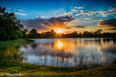 Good to be home (DonMiller_ToGo) Tags: sunset sky lake water clouds reflections landscape outdoors hdr flares onawalk 3xp hdrphotography d5500 millerville