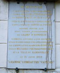 Ecole Preparatoire de Rambouillet plaque - Chateau de Rambouillet, France (Monceau) Tags: france plaque rambouillet chteauderambouillet chteauderamboulliet