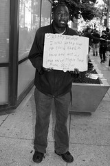 have a heart (vhines200) Tags: oakland california 2016 homeless panhandler sign blackandwhite