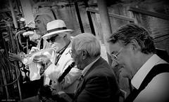 Denneweg jazz. The Hague (jaap spiering   photographer) Tags: people blackandwhite bw monochrome noiretblanc zwartwit streetphotography jazz denhaag nb muziek mens thehague mensen 070 orkest denneweg jaapspiering jaapspieringphotographer jaapspieringfotografie