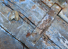 Macro Texture Study 1 (katie47n) Tags: macro boat hull peelingpaint rust texture detail abstract wood old wickford ri color weathered worn shipyard boatyard