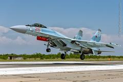 Su-35S RF-95498 (Alex Babashov) Tags: plane canon airplane russia anniversary aircraft air jet planes russian celebrate sevastopol crimea spotting airfield aerobatic avia rus planespotting airjet su35 belbek aviadarts rf95498