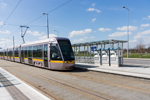 LUAS TRAM STOP IN CITYWEST [APRIL 2015] REF-103234