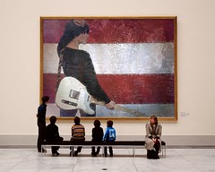 Born in the USA-PhotoFunia (Frizztext) Tags: girl museum guitar usflag bornintheusa frizztext museumseries soundcloud photofunia davidhaggard