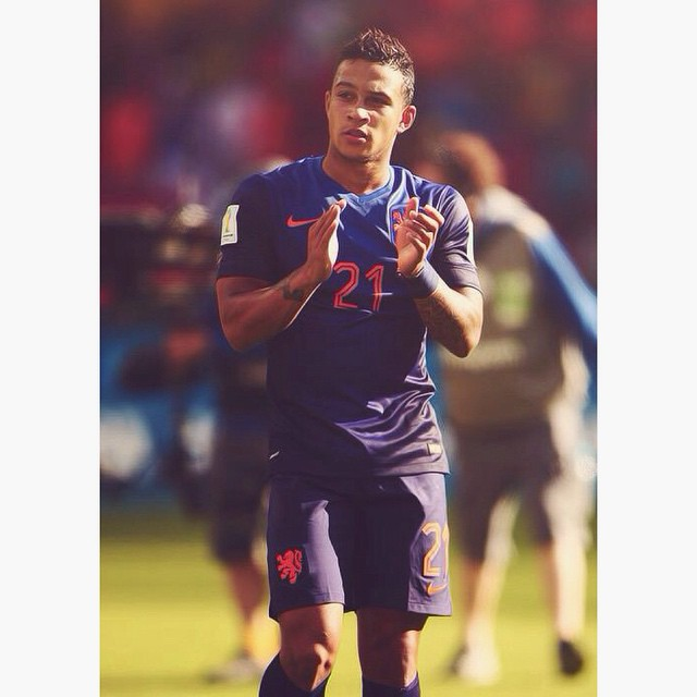 Welcome to the Theatre of Dreams MEMPHIS DEPAY. Super excited to to see you in Manchester United Colors ❤️ #DepayIsRed
