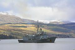 TCG GOKOYA (The Salaried Tourist) Tags: turkey scotland military navy frigate warship gareloch jointwarrior clydesubmarinebase nikond7100 tamron150600 tcggokoya
