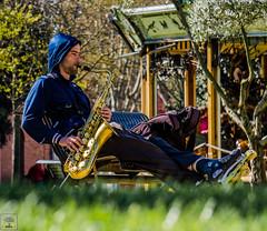 Saxo au parc - Sax at the park (Vince Hirilorn) Tags: sax saxophone saxo