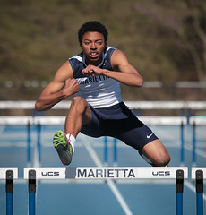 hurdles (Mark Chandler Photography) Tags: county girls game color colour field sport female race canon ga georgia photography photo athletics track stock teens running highschool teen 7d marietta championships athlete jv trackandfield highjump cobbcounty markchandler