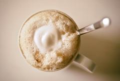 Coffee Break (Gabriele Diwald) Tags: cup coffee closeup milk spoon mug frothy froth